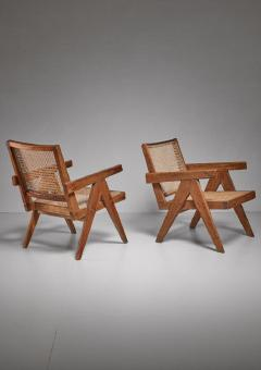 Pierre Jeanneret Pierre Jeanneret pair of Chandigarh High Court easy chairs 1950s - 760155