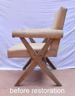 Pierre Jeanneret Pierre Jeanneret pair of X leg Armchairs 1960 - 1961743
