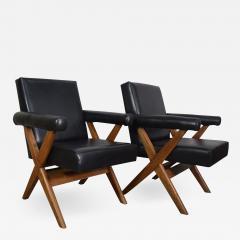 Pierre Jeanneret Pierre Jeanneret pair of X leg Armchairs 1960 - 1962689