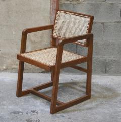 Pierre Jeanneret Pierre Jeanneret set of 8 Cane Back Office Chairs with original Letterings - 1963783