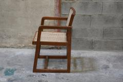 Pierre Jeanneret Pierre Jeanneret set of 8 Cane Back Office Chairs with original Letterings - 1963785