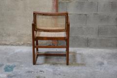 Pierre Jeanneret Pierre Jeanneret set of 8 Cane Back Office Chairs with original Letterings - 1963786