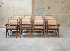 Pierre Jeanneret Set of 12 Pierre Jeanneret Armchairs - 1961981