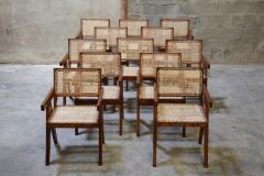 Pierre Jeanneret Set of 12 Pierre Jeanneret Armchairs - 1962001