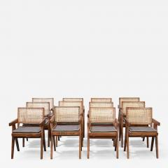 Pierre Jeanneret Set of 12 Pierre Jeanneret Armchairs - 1965710