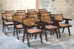 Pierre Jeanneret Set of 14 Amchairs in the style of PIERRE JEANNERET - 2031755