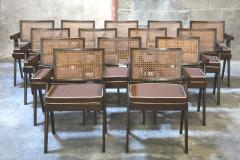 Pierre Jeanneret Set of 14 Amchairs in the style of PIERRE JEANNERET - 2031756