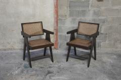 Pierre Jeanneret Set of 14 Amchairs in the style of PIERRE JEANNERET - 2031757