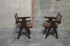 Pierre Jeanneret Set of 14 Amchairs in the style of PIERRE JEANNERET - 2031758