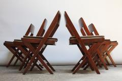 Pierre Jeanneret Set of Six Pierre Jeanneret Library Chairs in Teak and Cane - 374346
