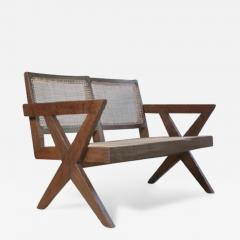 Pierre Jeanneret Sofa with cane very rare piece ca 1961 - 1099061