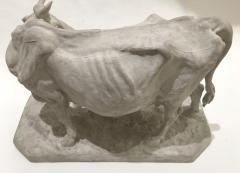 Pierre Jules Mene Pierre Jules MENE 1810 1879 Cow and her calf plaster model France circa1850 - 1620028