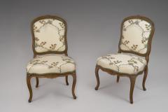 Pierre Leduc A Pair of Louis XV Beech Wood Chaises Stamped Leduc - 120103