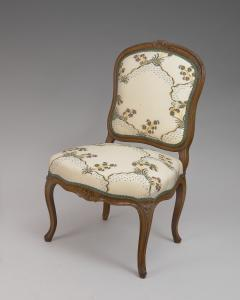 Pierre Leduc A Pair of Louis XV Beech Wood Chaises Stamped Leduc - 120104