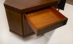 Pierre Paulin Custom Made French Ribbon Mahogany Solid Oak Trapezoidal Pierre Paulin Desk - 1535404