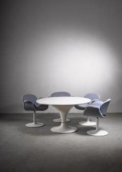 Pierre Paulin Dining suite with Miller table and 4 Little Tulip chairs by Pierre Paulin - 1860471