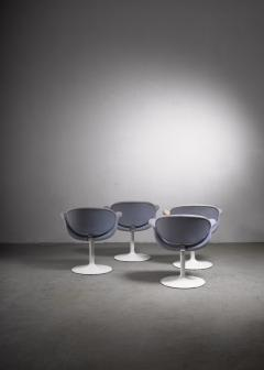 Pierre Paulin Dining suite with Miller table and 4 Little Tulip chairs by Pierre Paulin - 1860473