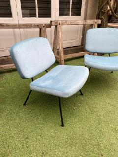 Pierre Paulin Pair of CM190 slipper chairs for Thonet - 2001352