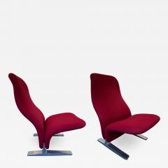 Pierre Paulin Pair of Concorde Armchairs by Pierre Paulin for Artifort Netherland 1960s - 1188200