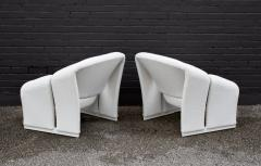 Pierre Paulin Pair of Pierre Paulin Lounge Chairs Early French Model F580 for Artifort - 1900708