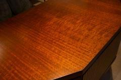 Pierre Paulin Pierre Paulin Desk Custom Made Hexagonal French Ribbon Mahogany Solid Oak - 1561128