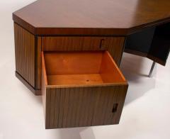 Pierre Paulin Pierre Paulin Desk Custom Made Hexagonal French Ribbon Mahogany Solid Oak - 1561131