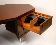 Pierre Paulin Pierre Paulin Desk Custom Made Hexagonal French Ribbon Mahogany Solid Oak - 1561132