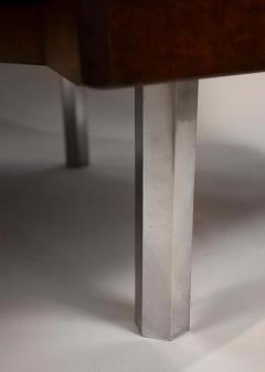 Pierre Paulin Pierre Paulin Desk Custom Made Hexagonal French Ribbon Mahogany Solid Oak - 1561134