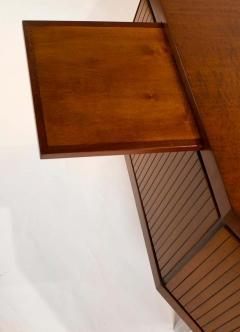 Pierre Paulin Pierre Paulin Desk Custom Made Hexagonal French Ribbon Mahogany Solid Oak - 1561135