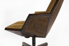 Pierre Paulin Pierre Paulin Executive Chair Model 1031 for Baker in Cane Mahogany Suede - 1939787