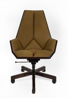Pierre Paulin Pierre Paulin Executive Chair Model 1031 for Baker in Cane Mahogany Suede - 1939788