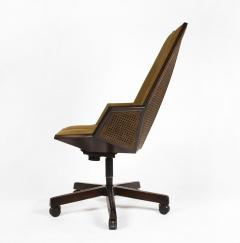 Pierre Paulin Pierre Paulin Executive Chair Model 1031 for Baker in Cane Mahogany Suede - 1939789