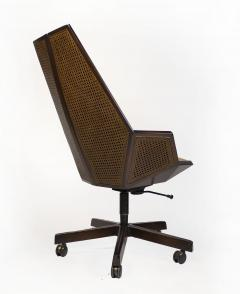 Pierre Paulin Pierre Paulin Executive Chair Model 1031 for Baker in Cane Mahogany Suede - 1939790