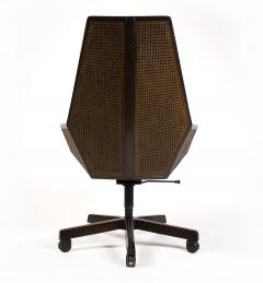 Pierre Paulin Pierre Paulin Executive Chair Model 1031 for Baker in Cane Mahogany Suede - 1939793