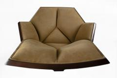 Pierre Paulin Pierre Paulin Executive Chair Model 1031 for Baker in Cane Mahogany Suede - 1939795
