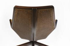 Pierre Paulin Pierre Paulin Executive Chair Model 1031 for Baker in Cane Mahogany Suede - 1939796