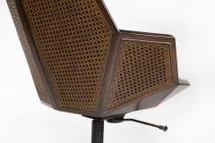 Pierre Paulin Pierre Paulin Executive Chair Model 1031 for Baker in Cane Mahogany Suede - 1939797