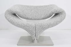 Pierre Paulin Pierre Paulin Ribbon Chair in White and Gray Upholstery - 1467130