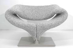 Pierre Paulin Pierre Paulin Ribbon Chair in White and Gray Upholstery - 1467132
