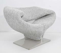 Pierre Paulin Pierre Paulin Ribbon Chair in White and Gray Upholstery - 1467133