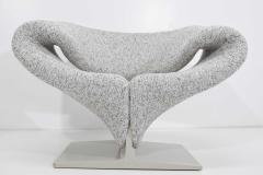 Pierre Paulin Pierre Paulin Ribbon Chair in White and Gray Upholstery - 1467137