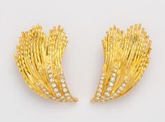 Pierre Sterl 18k Gold Diamond Earclips by Sterle - 315678