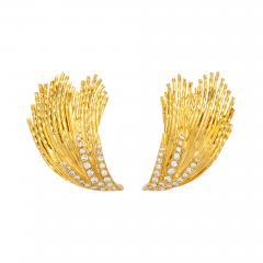 Pierre Sterl 18k Gold Diamond Earclips by Sterle - 315821