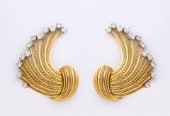 Pierre Sterl Diamond 18k Gold Earrings by Sterle - 1368302
