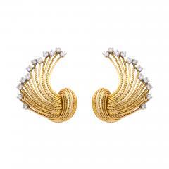 Pierre Sterl Diamond 18k Gold Earrings by Sterle - 1370187