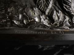 Pierre Traverse Classical Bronze Sculpture by French Sculptor Pierre Traverse Archer Centaur - 976395