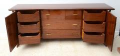 Piet Hein Danish Modern Walnut and Brass Dresser or Buffet Piet Hein - 358141