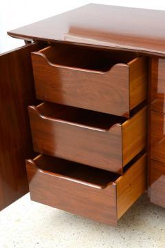 Piet Hein Danish Modern Walnut and Brass Dresser or Buffet Piet Hein - 358142