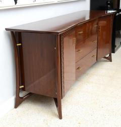 Piet Hein Danish Modern Walnut and Brass Dresser or Buffet Piet Hein - 358143