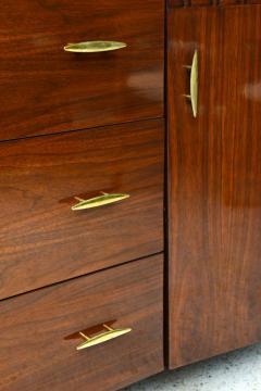 Piet Hein Danish Modern Walnut and Brass Dresser or Buffet Piet Hein - 358144